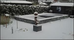 Tuintips in de winter - sneeuw